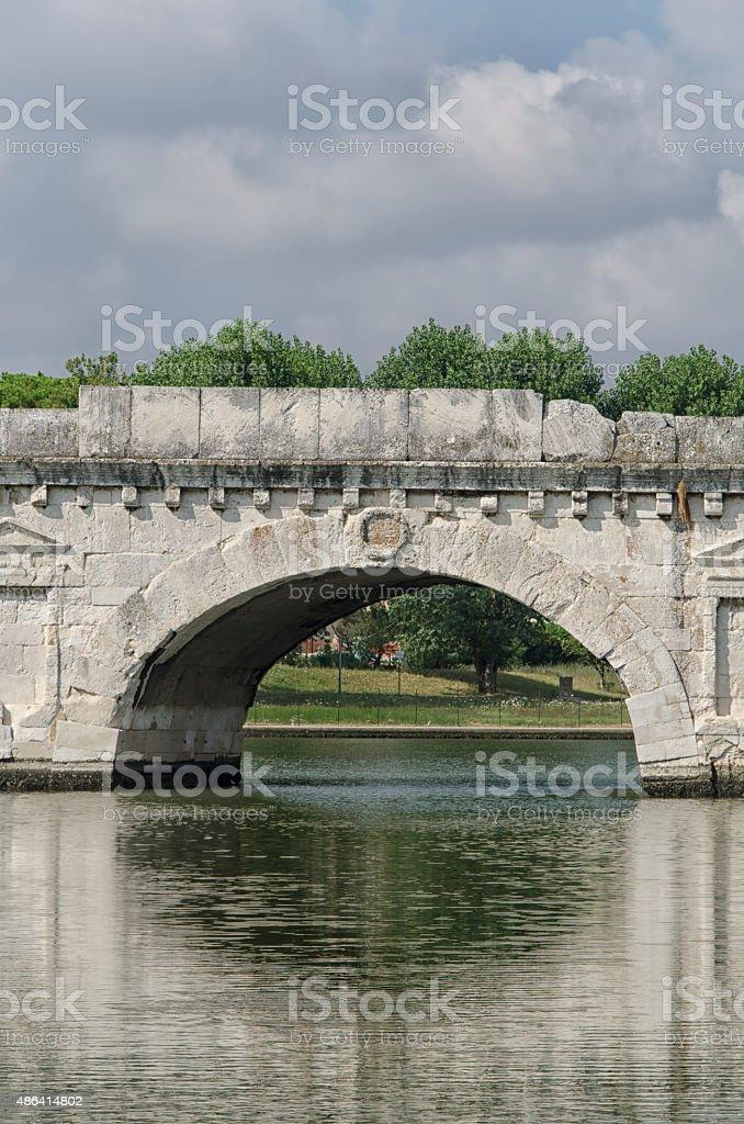 Close up of the Roman bridge stock photo