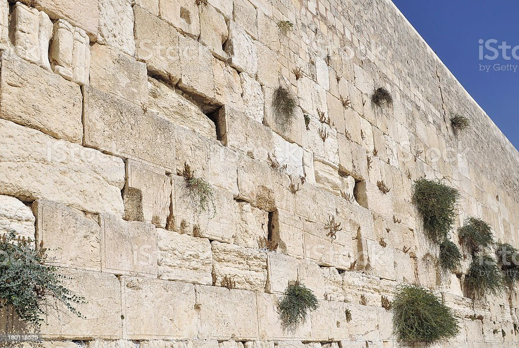 close up of the Western Wall,Jerusalem, Israel. royalty-free stock photo