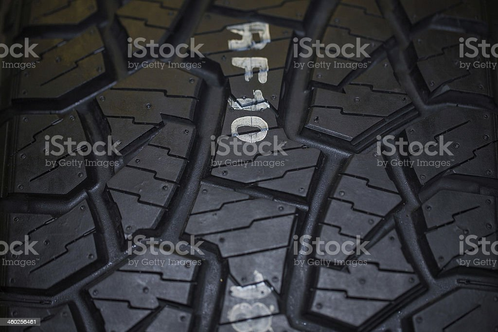 Close up of truck tire texture royalty-free stock photo