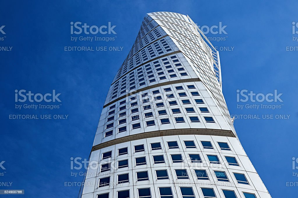 close up of turning torso stock photo