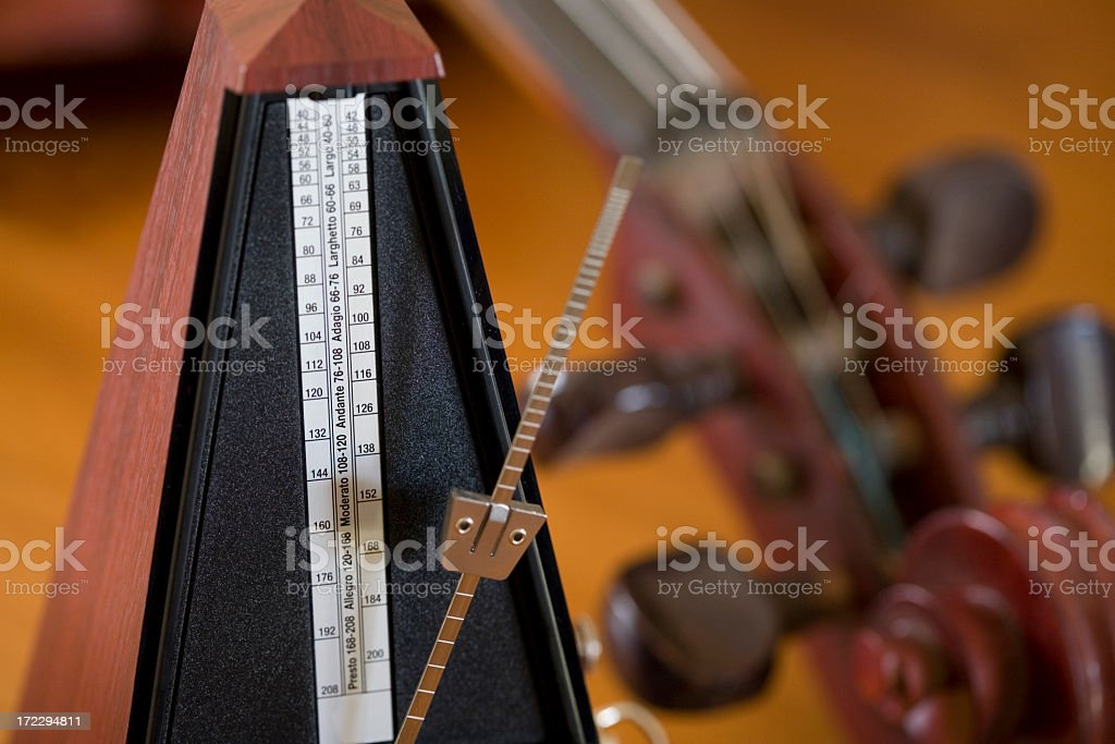 A close up of two wooden instruments stock photo