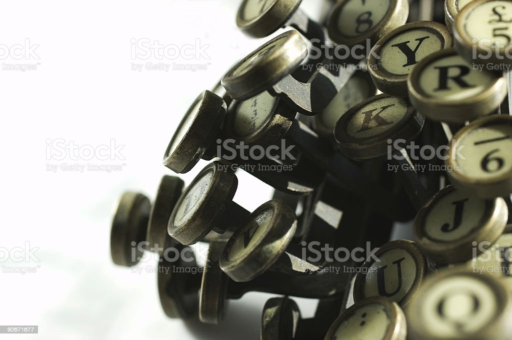 close up of typewriter keys royalty-free stock photo