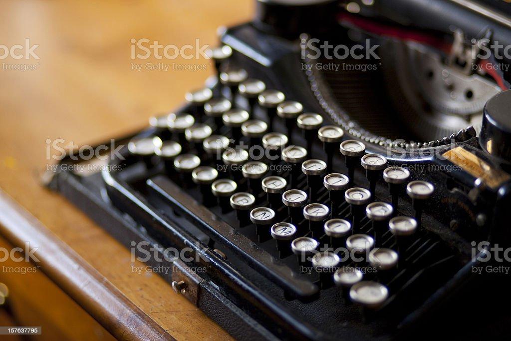Close up of typewriter stock photo