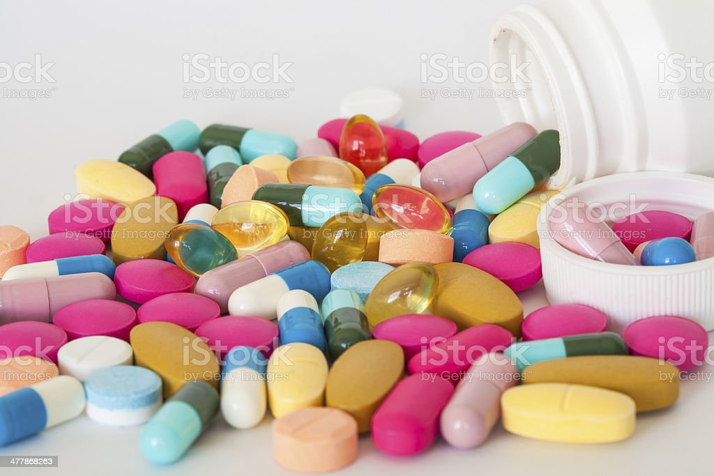close up of various pills. royalty-free stock photo