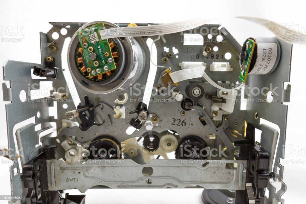 Close up of VCR electronic part stock photo