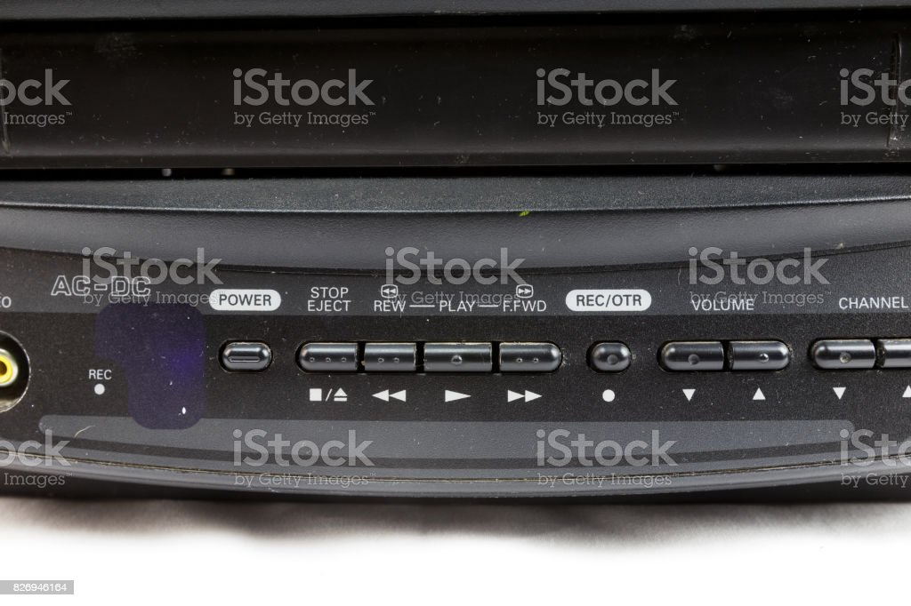 Close up of VCR stock photo