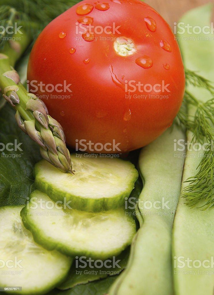 Plano aproximado de produtos hortícolas foto de stock royalty-free