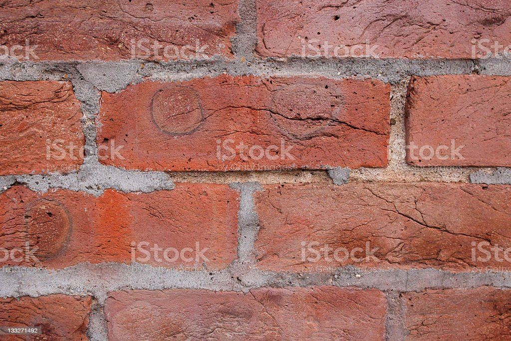 Close up of very old brick wall stock photo