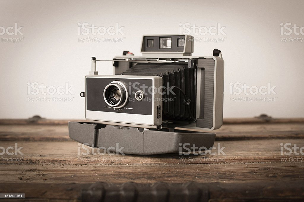 Close Up of Vintage Black Bellow Camera royalty-free stock photo