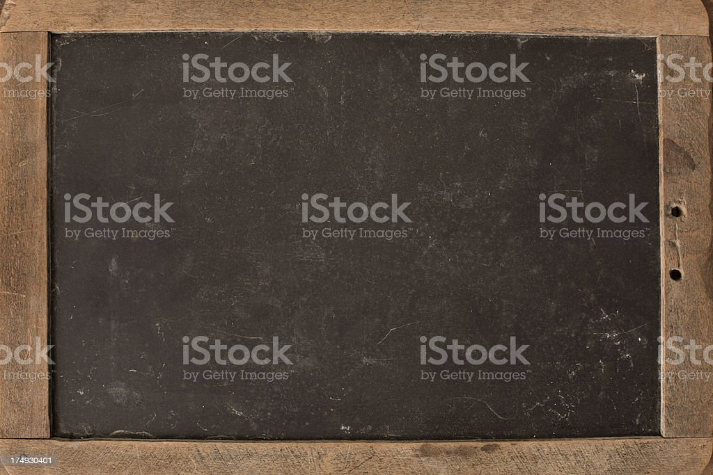 Close Up of Vintage Chalkboard Slate royalty-free stock photo