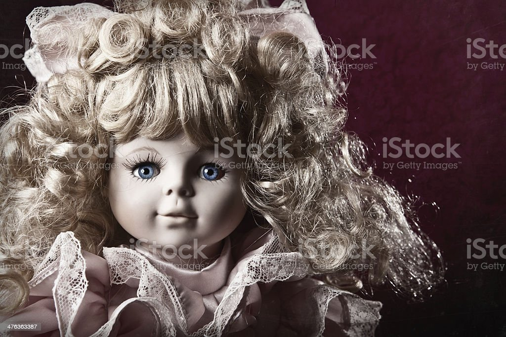 Close Up of Vintage Style Baby Doll stock photo