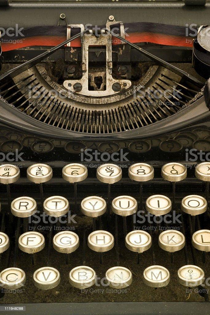 Close up of vintage typewriter royalty-free stock photo