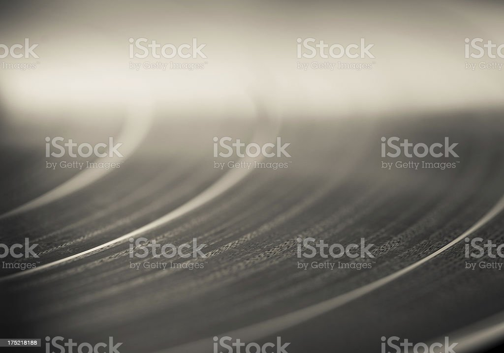 Close Up of Vinyl Record stock photo