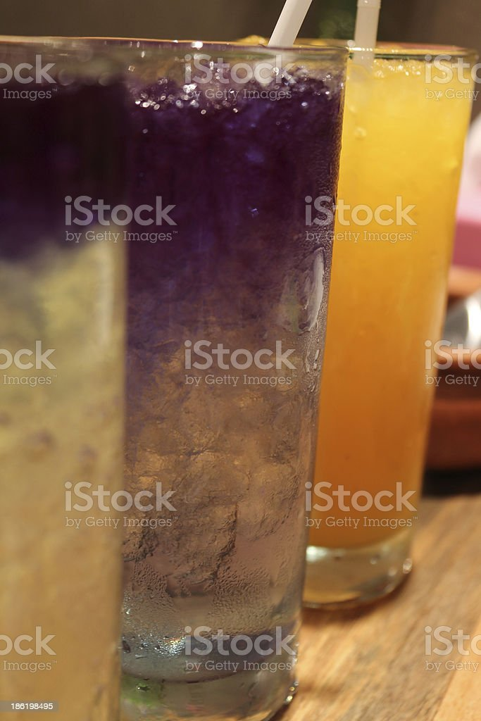 Close up of violet flower as herbal drink royalty-free stock photo