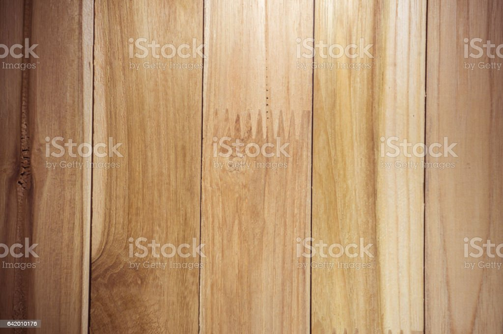close up of wall made of wooden. stock photo