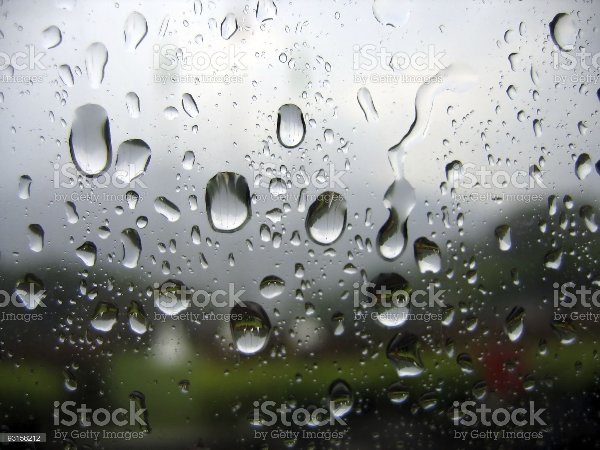 Close up of water droplets on window glass royalty-free stock photo