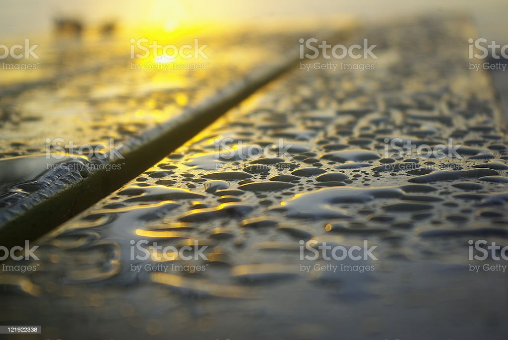 close up of water drops royalty-free stock photo