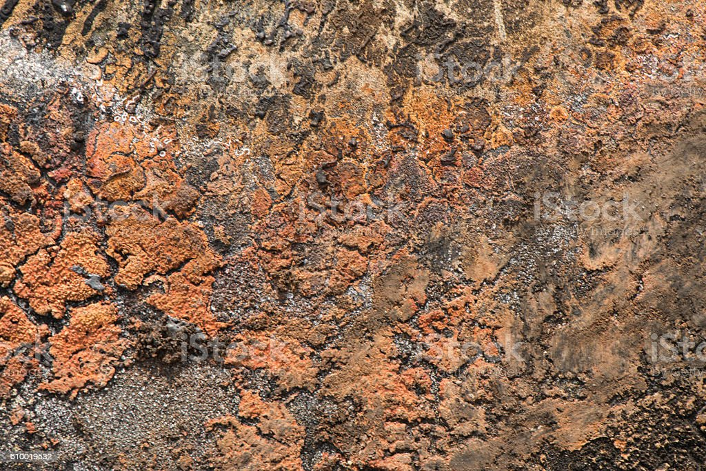 Close Up of Weathered Brown Wall stock photo