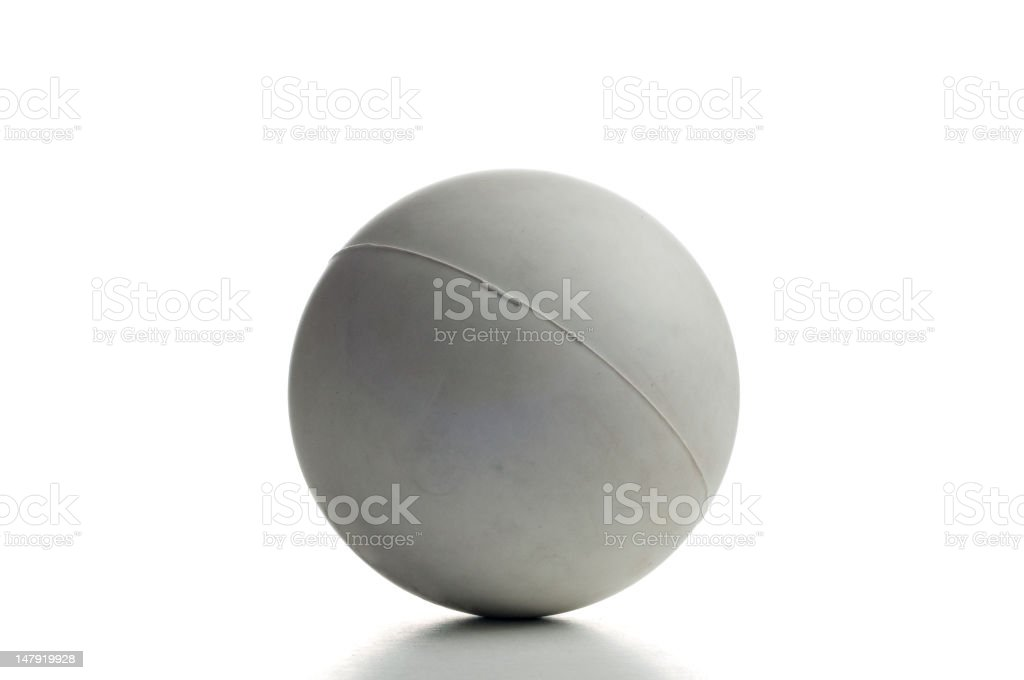 Close up of white lacrosee ball stock photo