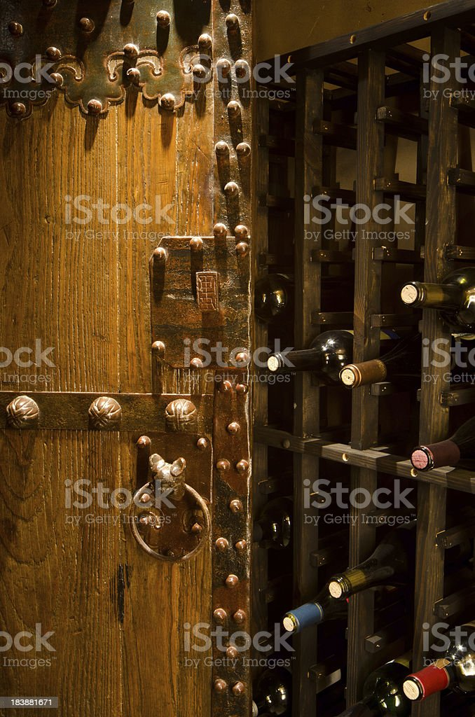 Close up of wine cellar royalty-free stock photo