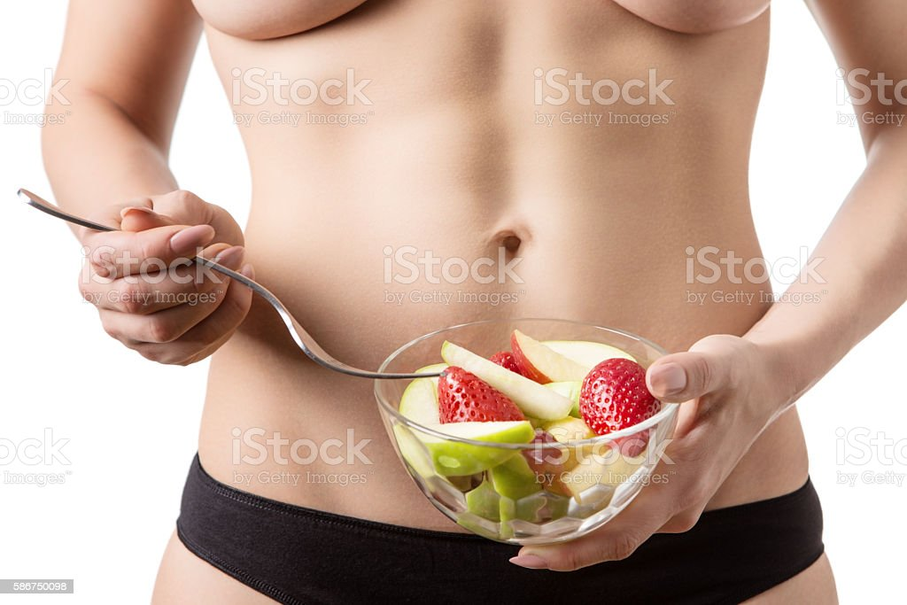 close up of woman belly stock photo