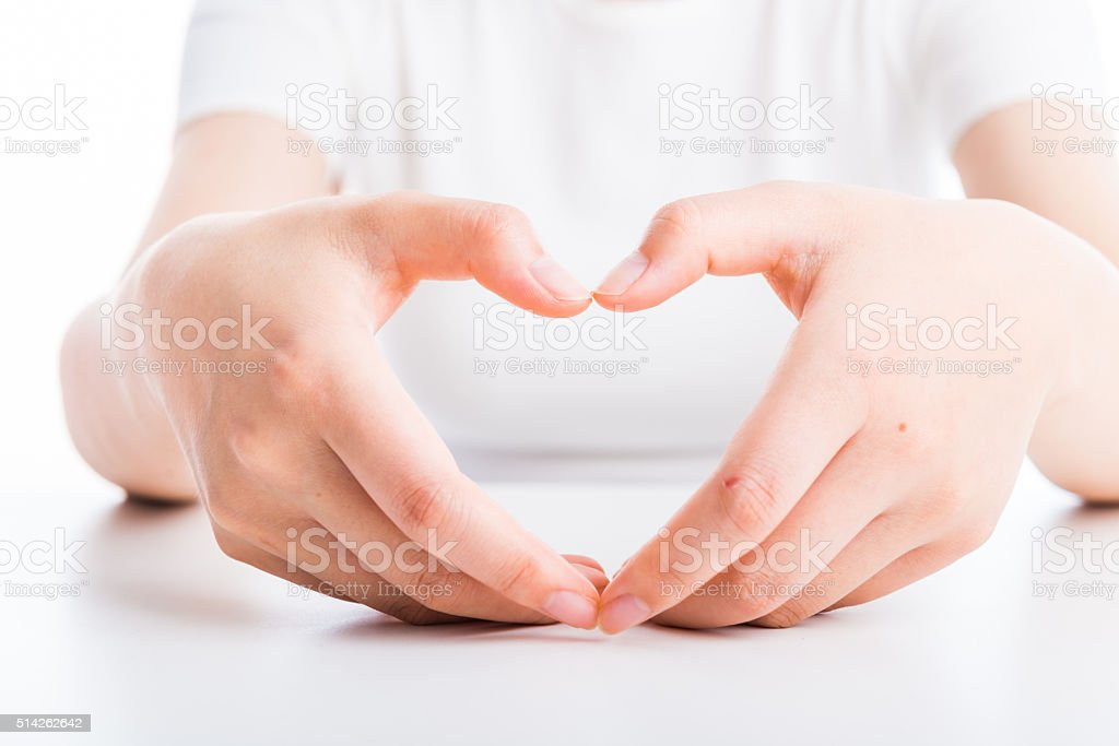 close up of woman's hand stock photo