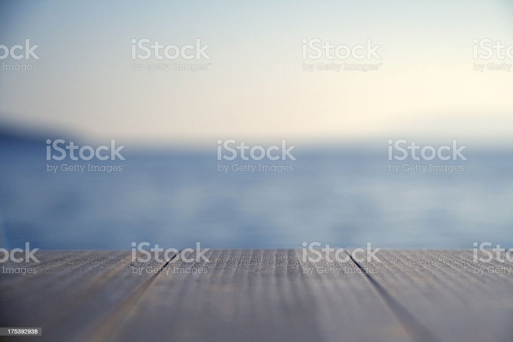 Close up of wooden pier stock photo
