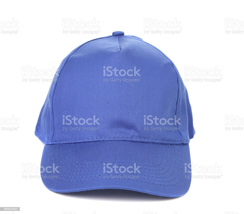 Close up of working peaked cap. stock photo