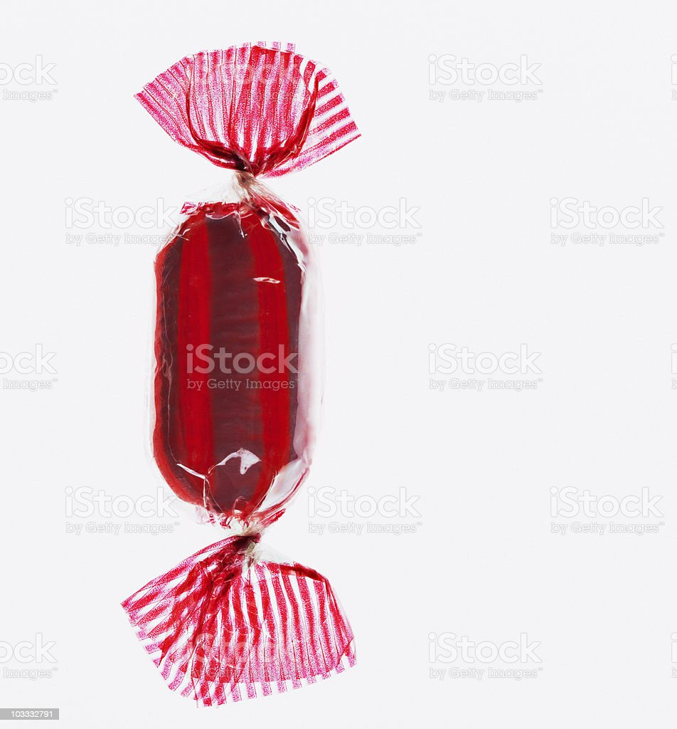 Close up of wrapped hard candy stock photo