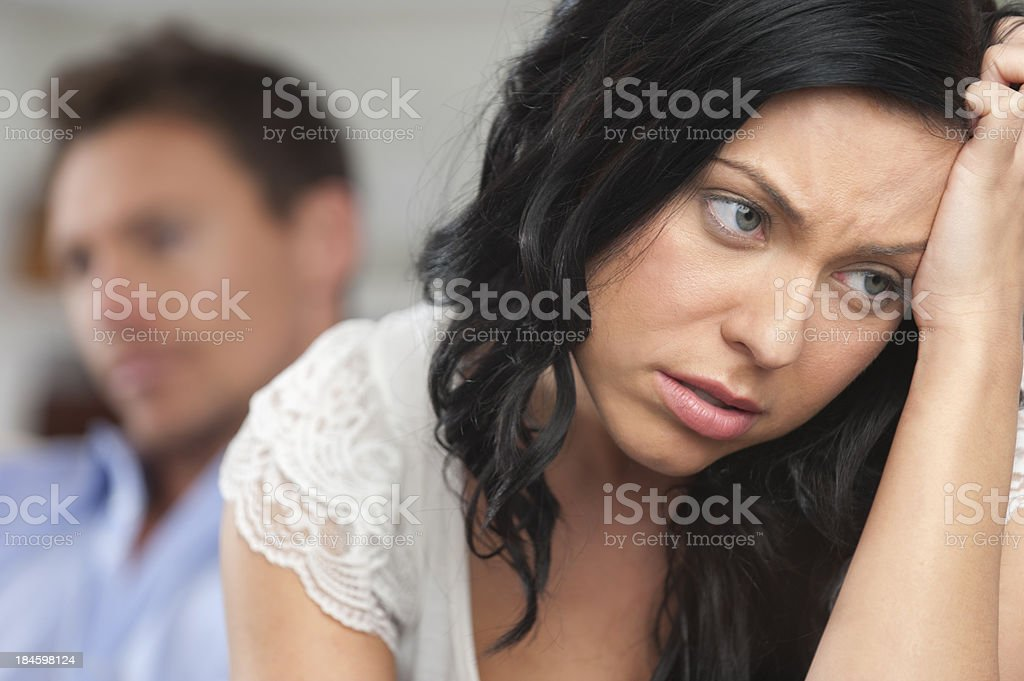 Close up of young couple fighting royalty-free stock photo