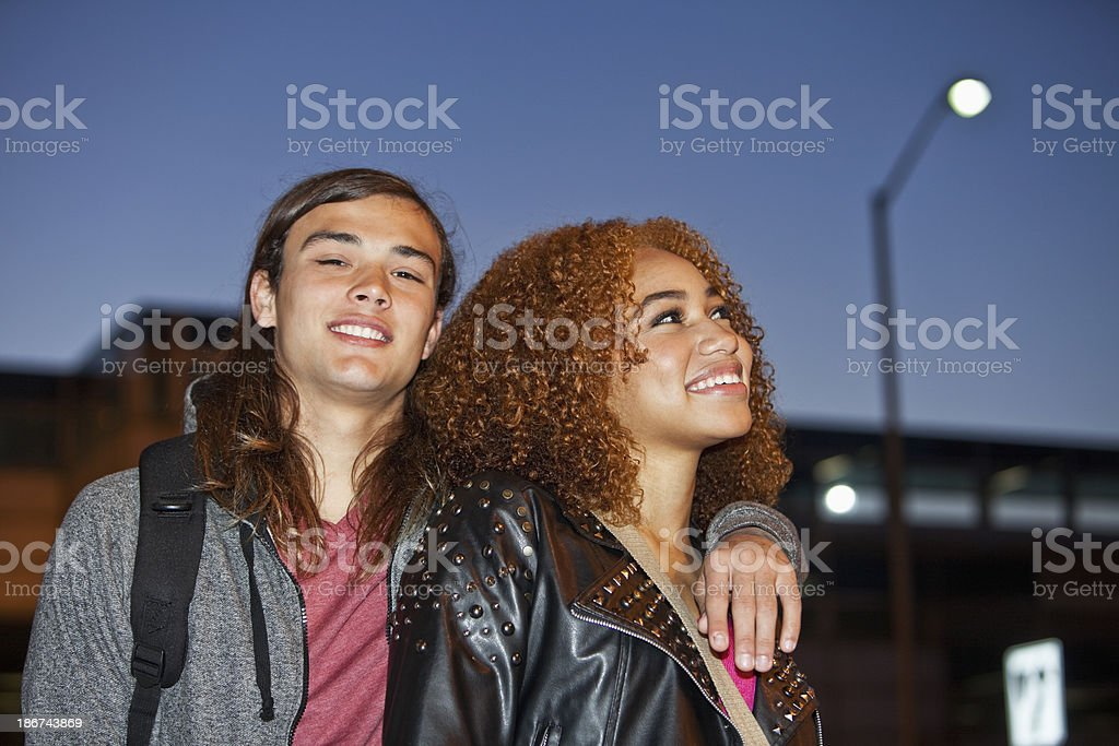 Close up of young couple royalty-free stock photo