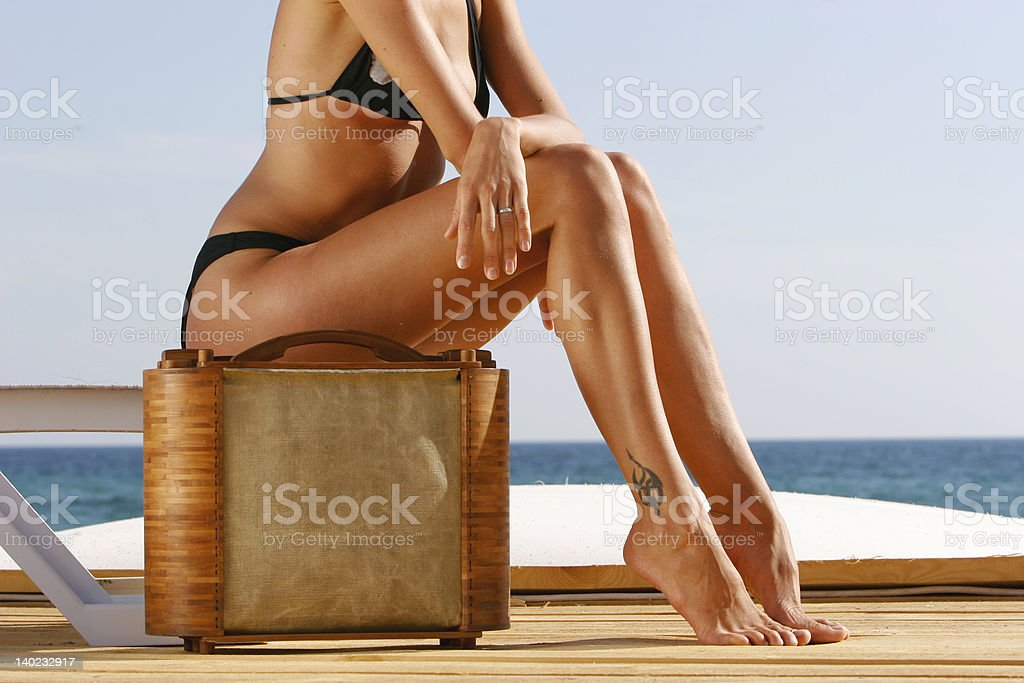 close up of young girl\\'s legs royalty-free stock photo