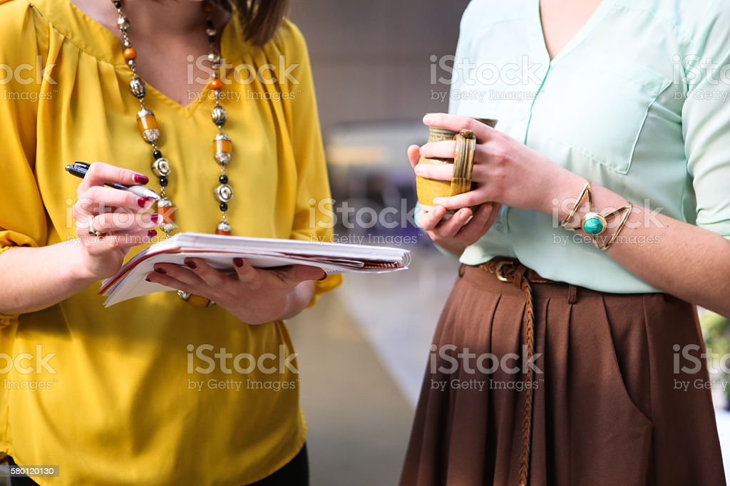 Close Up of Young Professionals Working stock photo