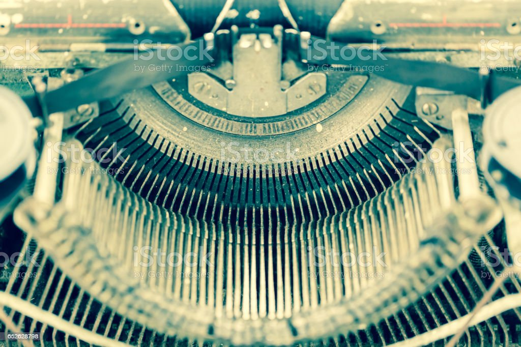 Close up Old Typewriter stock photo