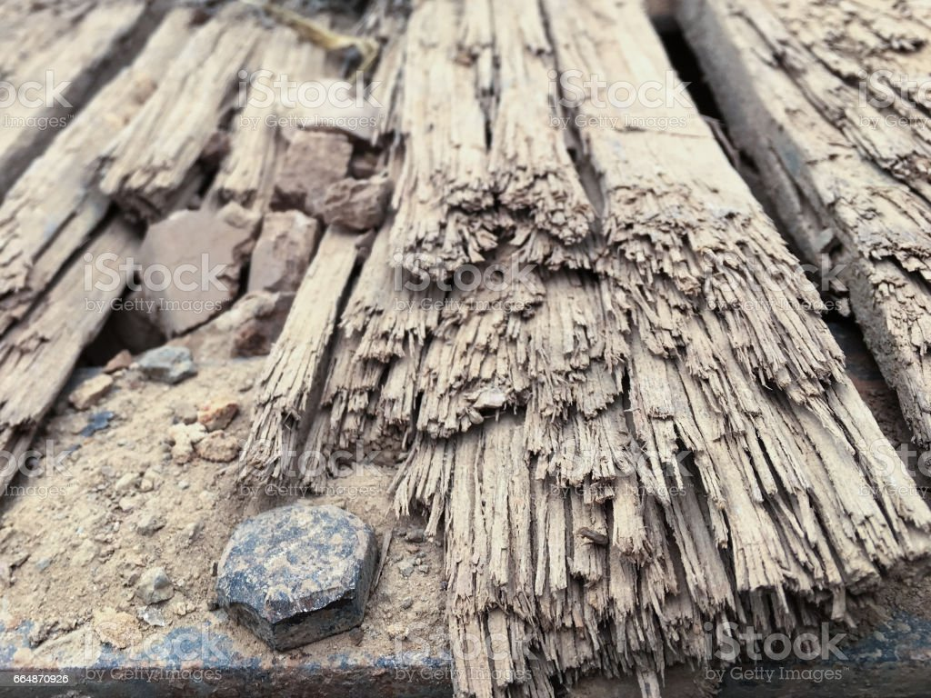 Close up old wood for textures stock photo