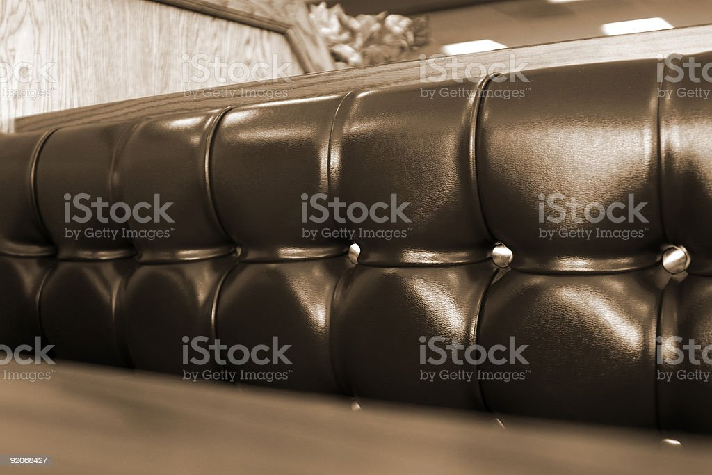 Close up on a Restaurant Booth stock photo