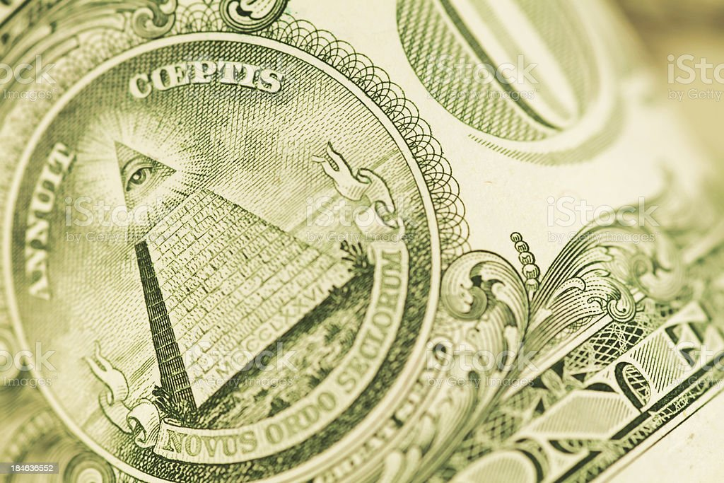 Close Up on a US Dollar Bill (High Resolution Image) royalty-free stock photo