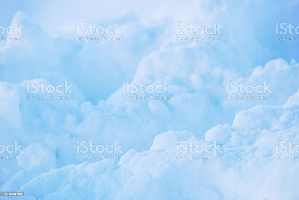 Close Up On Bluish Ice During Its Melting Process royalty-free stock photo