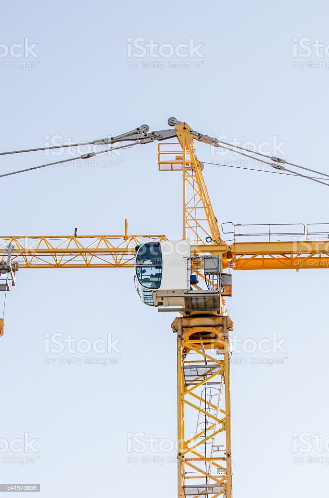 Close up on construction crane stock photo