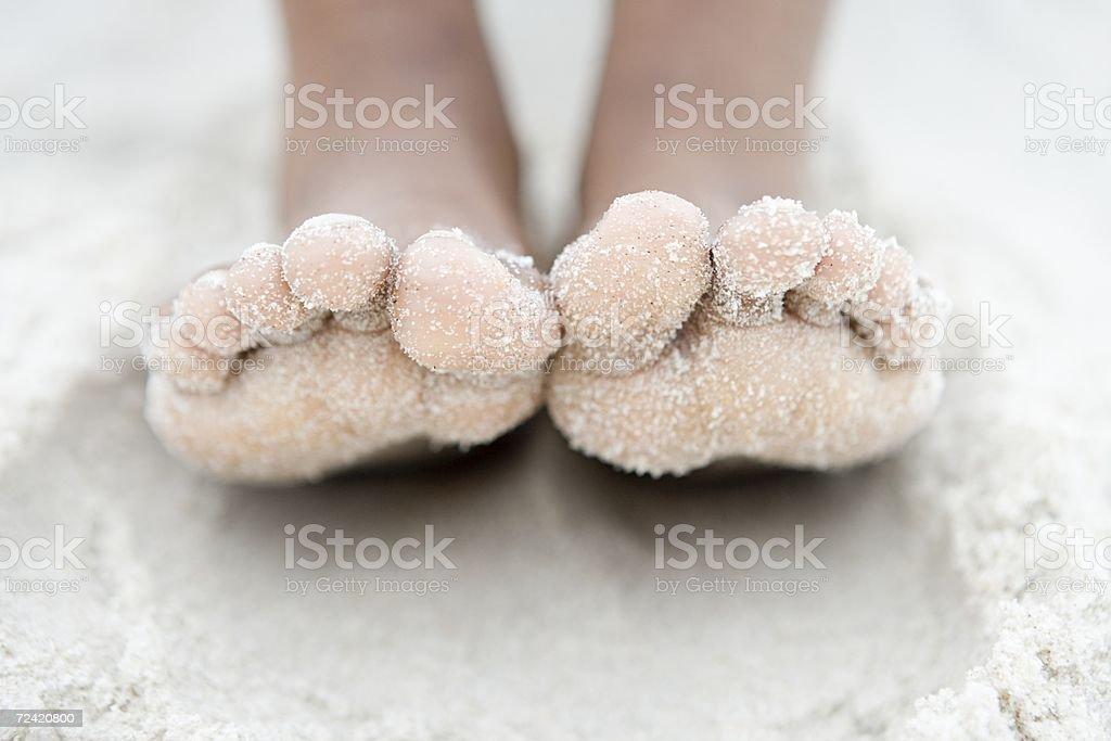 Close up on feet stock photo