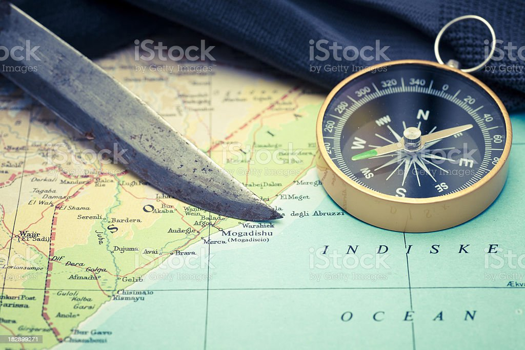 Close up on Mogadishu royalty-free stock photo