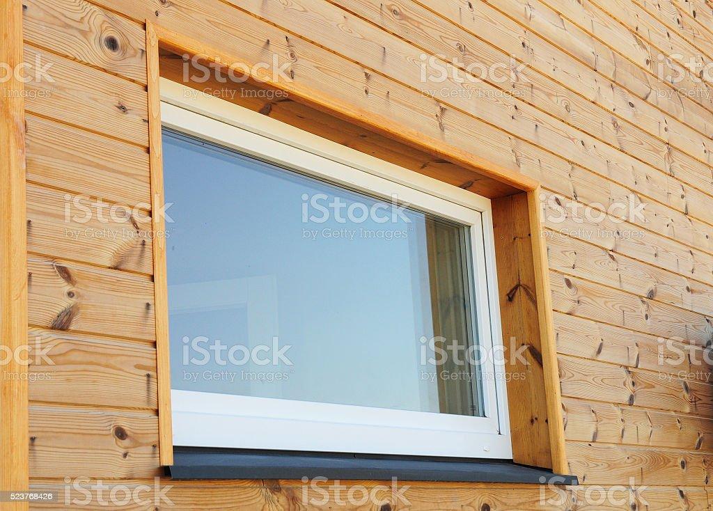 Close up on Plastic PVC Window stock photo