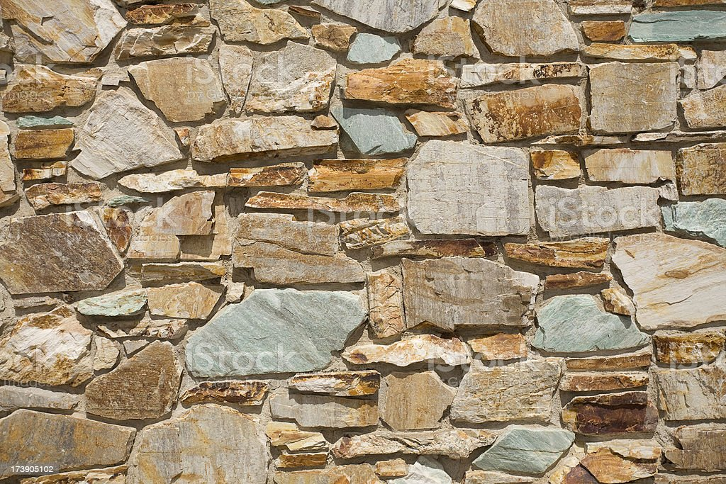 Close up on Rock Wall royalty-free stock photo