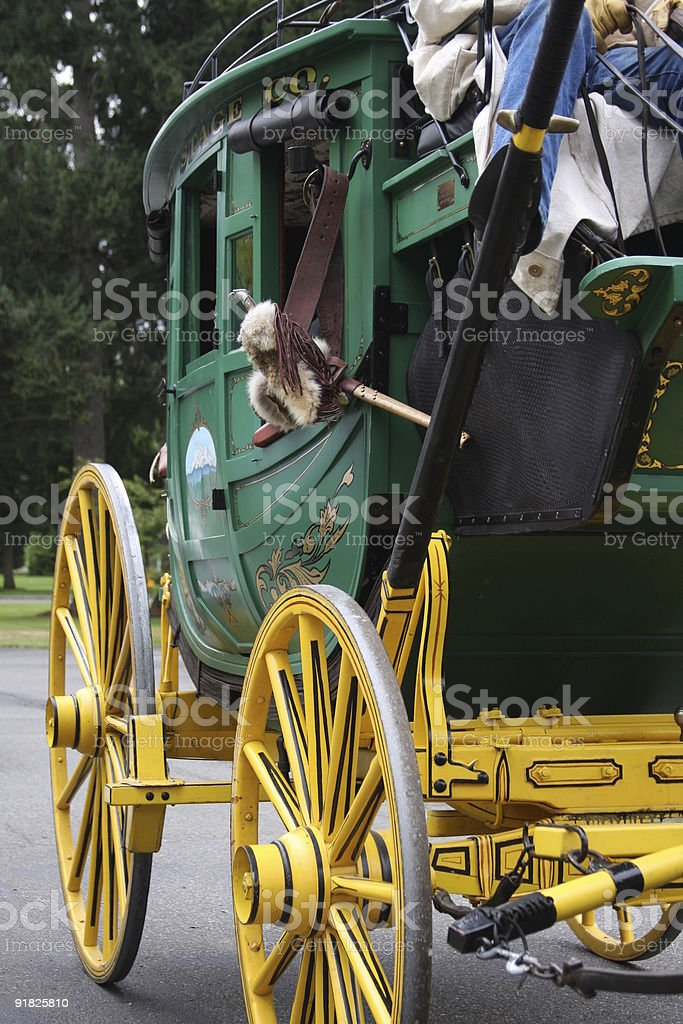 Close up on Stagecoach stock photo