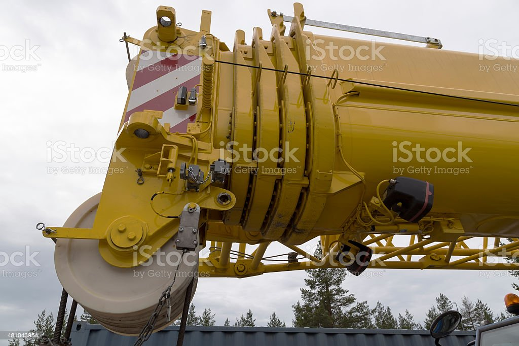 Close up on the crane royalty-free stock photo