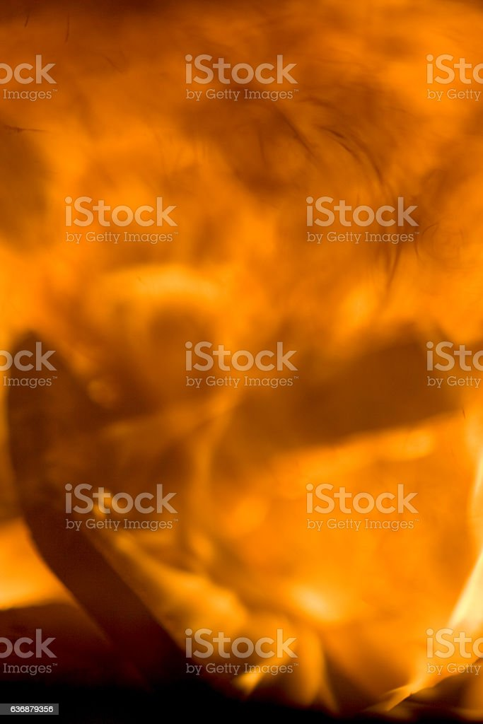 Close up on the flames stock photo