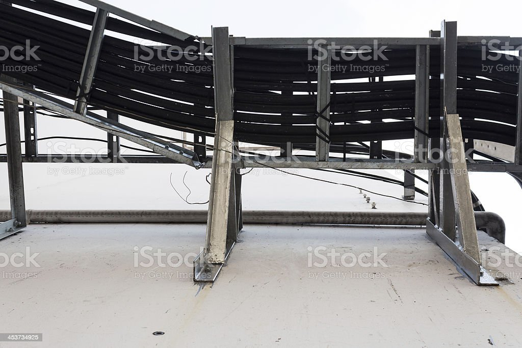 Закрыть вверх часть высокого напряжения подстанцией Стоковые фото Стоковая фотография
