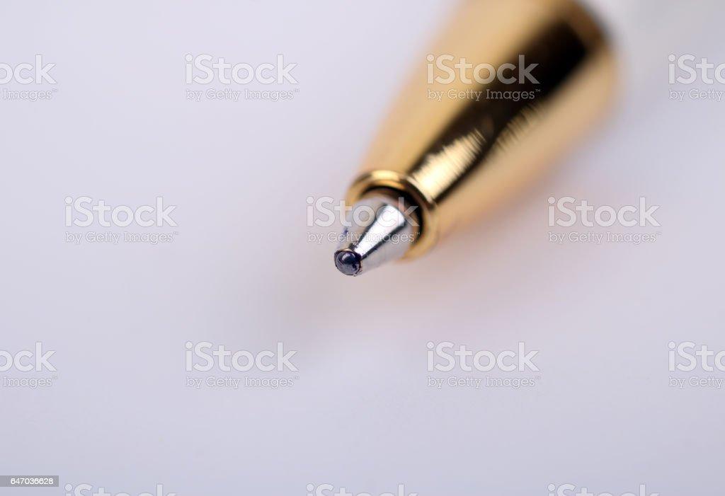 Close up pen stock photo