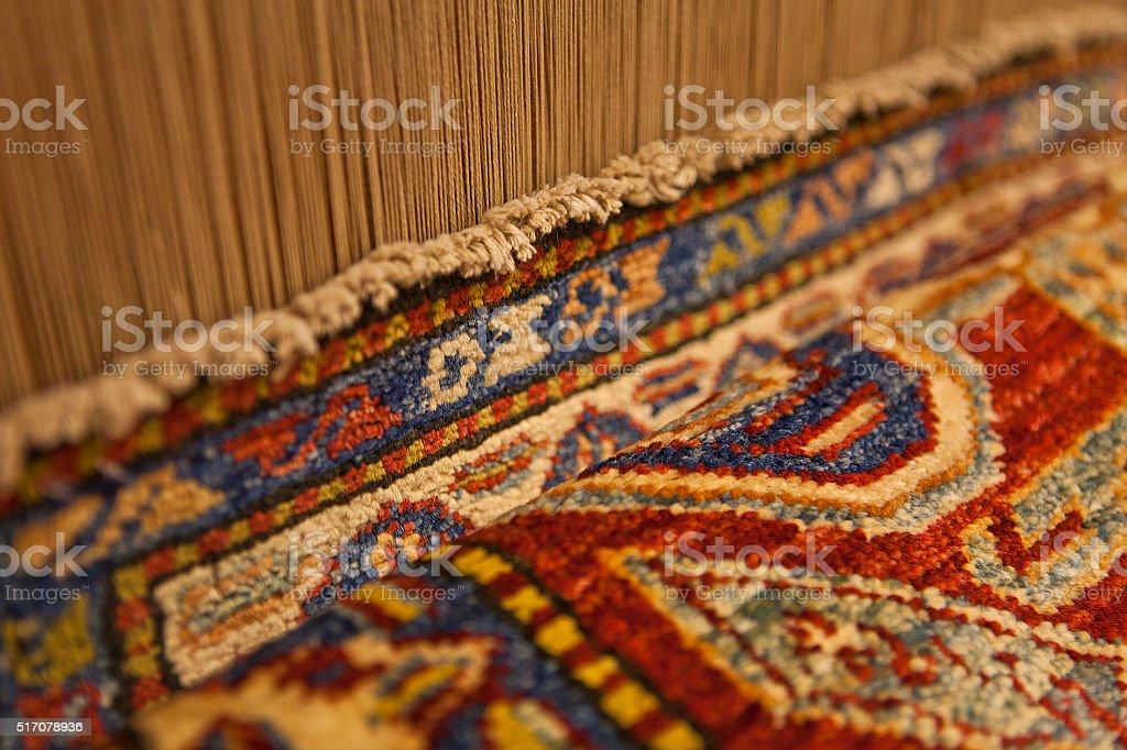Close up Persian Rug Carpet stock photo
