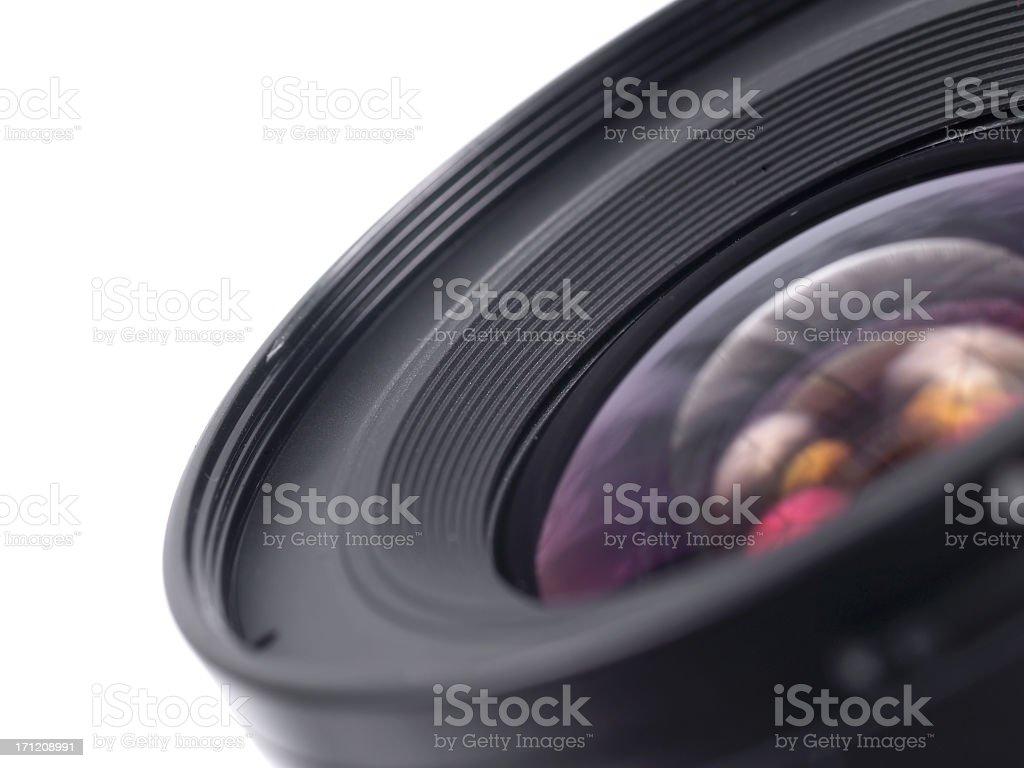 Close up photo of a black camera lens royalty-free stock photo